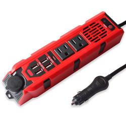 200W Car Power Inverter, DC 12V to 110V AC