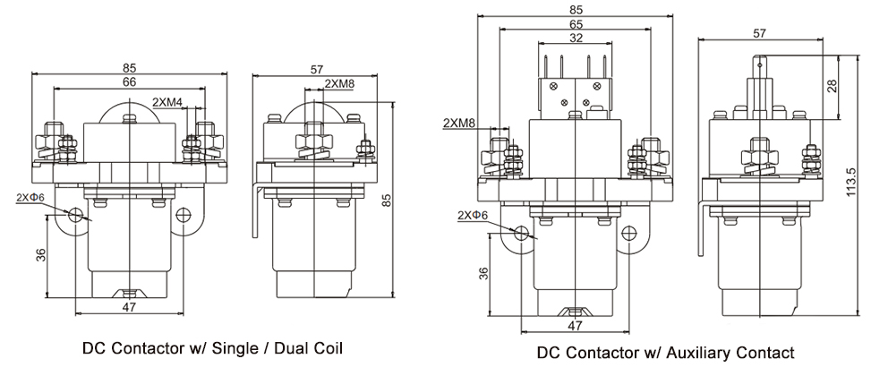 100A DC Contactor Installation Diagram