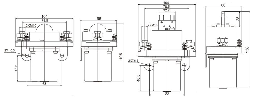 400A DC Contactor Installation Diagram