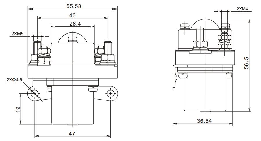 50A DC Contactor Installation Diagram