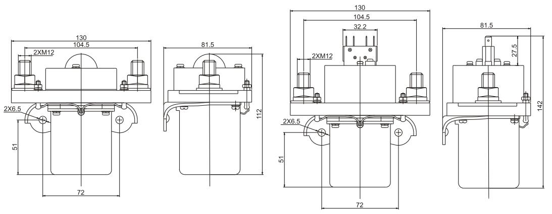 600A DC Contactor Installation Diagram